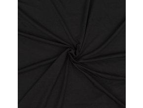 Jednostranný úplet tencel modal - čierna