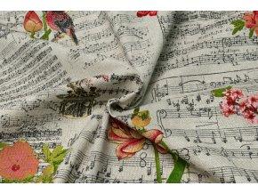 bavlna rezna hudba kvety 1