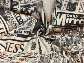 Bavlnené plátno noviny staré