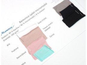 Vzorník jednostranných úpletov bavlna / modal