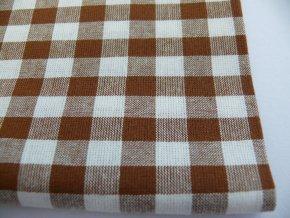 Bavlna kanafas kocky hnedé