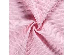 Bavlna vafle svetlá ružová