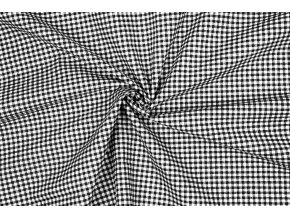 Bavlnené plátno malé kocky čierno-biele