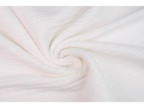 Bavlnený úplet čipka biela