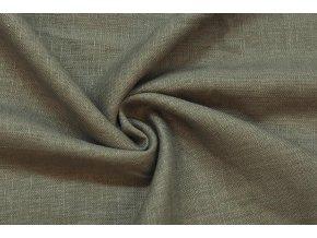 Ľanová tkanina khaki
