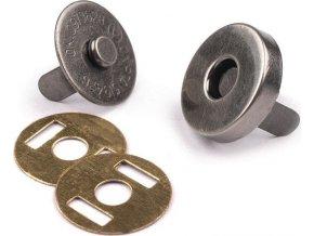 Magnetické zapínanie priemer 14 mm nikel antik