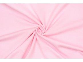 Teplákovina počesaná ľadová ružová 280 g / m2