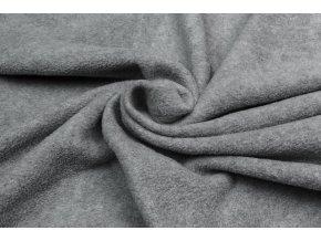 Polar fleece sivý melír