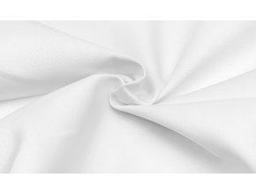 Bavlnená tkanina s keprovou väzbou biela