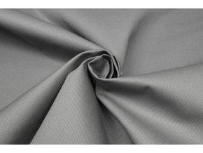 Bavlnená tkanina s keprovou väzbou sivá