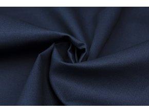 Bavlnená tkanina s keprovou väzbou tmavomodrá