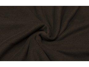 Fleece tmavo hnedý