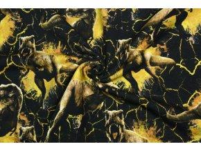 Teplákovina Jurský svet s žltými dinosaurami