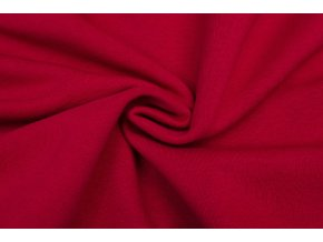 Teplákovina počesaná červená 320 g/m2