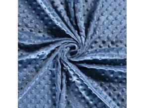 Minky oceľovo modrá