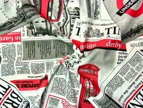 Bavlna režná noviny Londýn