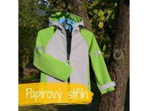 Papierová strihová šablóna detská softshellová bunda veľ. 80-140