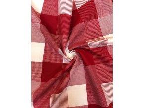 Bavlnené plátno kárované červené