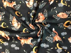 Bavlnený satén líšky v noci