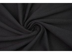 Bavlnený úplet čierny 100% Bavlna