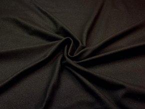 Bavlnený úplet vysokogramážny jeans čierny