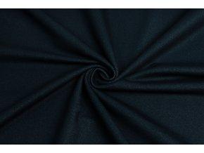 Bavlnený úplet vysokogramážny jeans tmavomodrý
