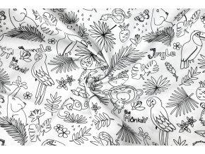 Bavlnené plátno na vyfarbovanie Tropic