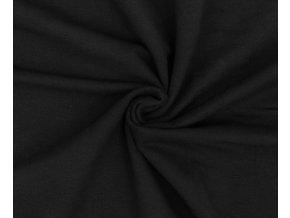 Bambusová teplákovina čierna - 96 % bambusová viskóza / 4 % elastan