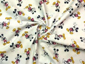 Bavlnené plátno Mickey Mouse