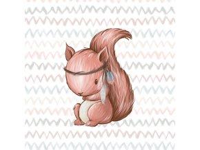 Panel teplákovina veverička na cik-caku