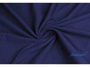 Bavlnený úplet námornícka modrá 100% bavlna, 150 g/m2
