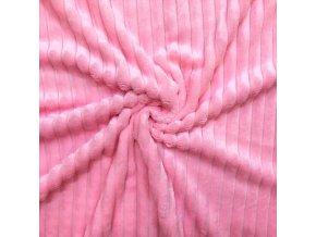 Minky pruh ružové