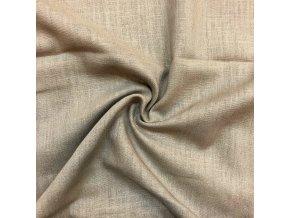 Ľanová tkanina béžovo-sivá