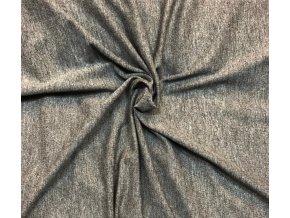 Bambusový úplet tmavší sivý melír
