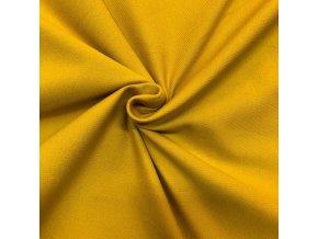 Bavlnený úplet vysokogramážny jeans - farba horčicová
