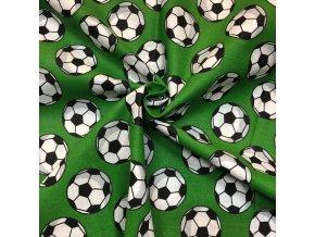 Bavlnené plátno biele futbalové lopty na zelenej