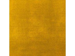 Bavlnený úplet horčicový odretý vzhľad