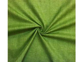 Bavlnené plátno melír zelený