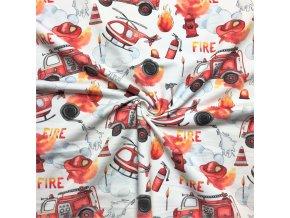 Teplákovina hasiči a požiar