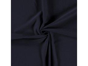 Teplákovina elastická GOTS námornícka modrá
