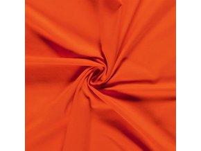 BIO jednostranný bavlnený úplet tmavooranžová 200 g/m2