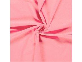 BIO jednostranný bavlnený úplet sladká ružová 200 g/m2