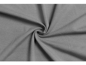 BIO jednostranný bavlnený úplet stredne tmavá sivá 200 g/m2