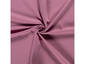 BIO jednostranný bavlnený úplet tmavá lila 200 g/m2