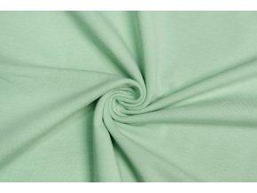BIO jednostranný bavlnený úplet zelenkavý 200 g/m2