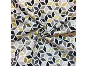 Bavlna režná žlté kosodížniky