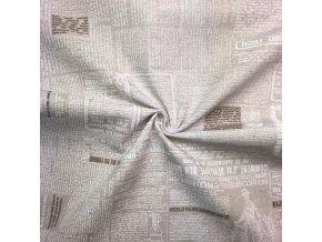 Bavlna režná béžové noviny
