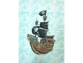 Panel plátno XL pirátska loď