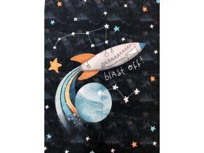 Panel plátno XL vesmír na tmavomodrej