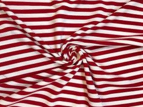Teplákovina pruh červeno-biely 1,3 cm